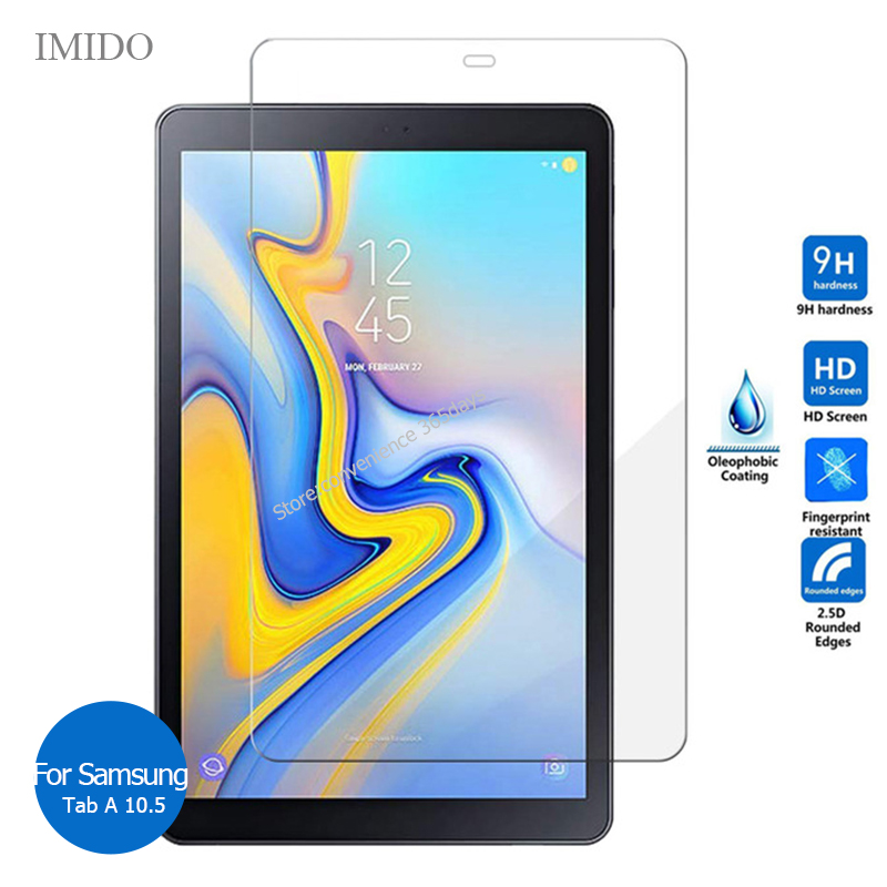 For Samsung Galaxy Tab A 10.5 Tempered Glass Screen Protector 9h Safety Protective Film On TabA SM T590 T595 T 590 595
