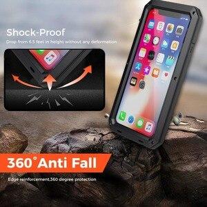 Image 4 - Capa de proteção completa 360 para iphone, armadura de metal para celulares iphone 11 pro xs max xr x 6 6s 7 8 plus 5S casos à prova de poeira,