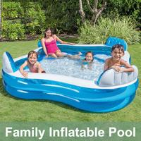 229x229x46cm Kids Inflatable Pool High Quality Children's Home Use Paddling Pool Large Size Inflatable Square Swimming Pool Baby