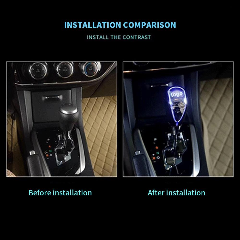 LED LIGHT CAR SIGN SHIFT KNOB