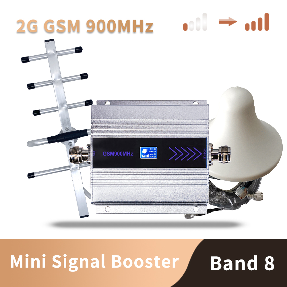 LCD Display Mini GSM Repeater 900MHz Cell Mobile Phone GSM 900 Signal Booster Amplifier + Yagi Antenna With 10m Cable