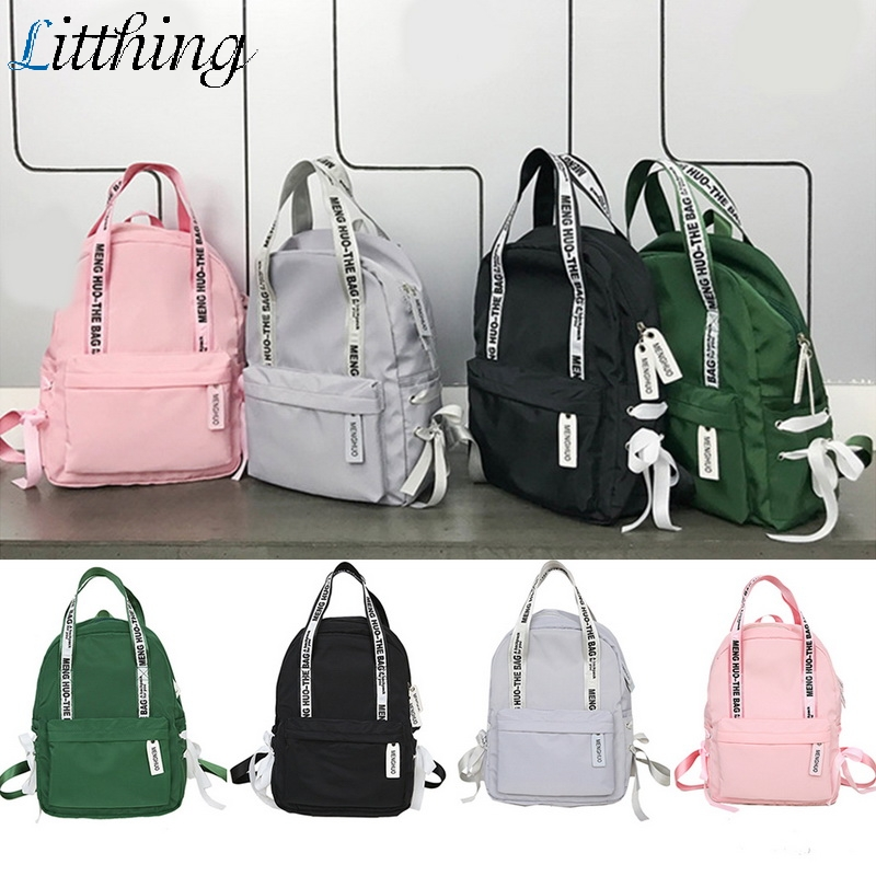 Litthing Women Backpacks 2019 Nylon Letter Print Portable Women's Backpack Large Capacity Mochilas Escolares Para Adolescentes