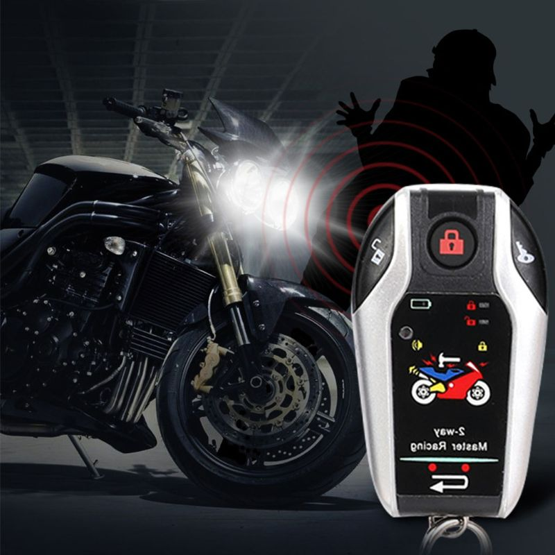 Two Way Motorcycle Alarm Motorbike 12V Anti-theft Security System Start Alarms 57BA