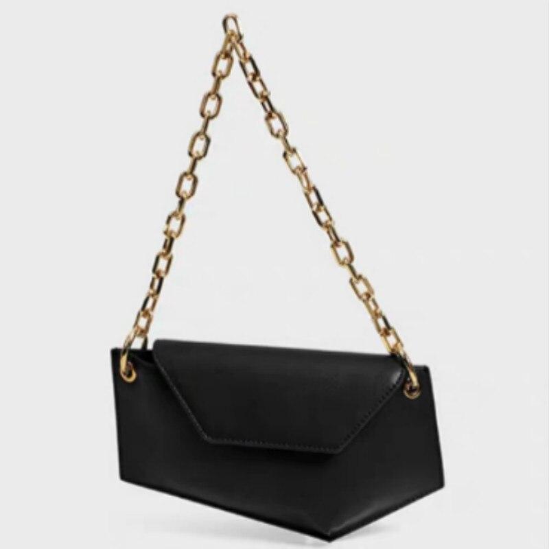 Genuine Leather Women Bag  Geometric Messenger Bag 2020 New Arrival  Women Waist Bag