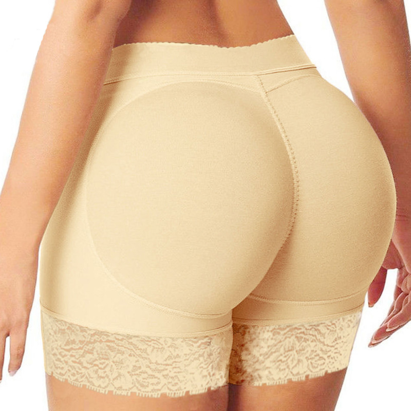Women Safety Short Pants Breathable Solid Soft Body Shaper Briefs Butt Lifter Panty Booty Enhancer Hip Push Up Booster