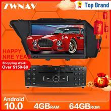 ZWNAV Android 10 multimedya oynatıcı navigasyon IPS HD ekran BENZ GLK GLK X204 GLK 300 GLK 350 araç DVD oynatıcı 4GB + 64GB kafa ünitesi DSP