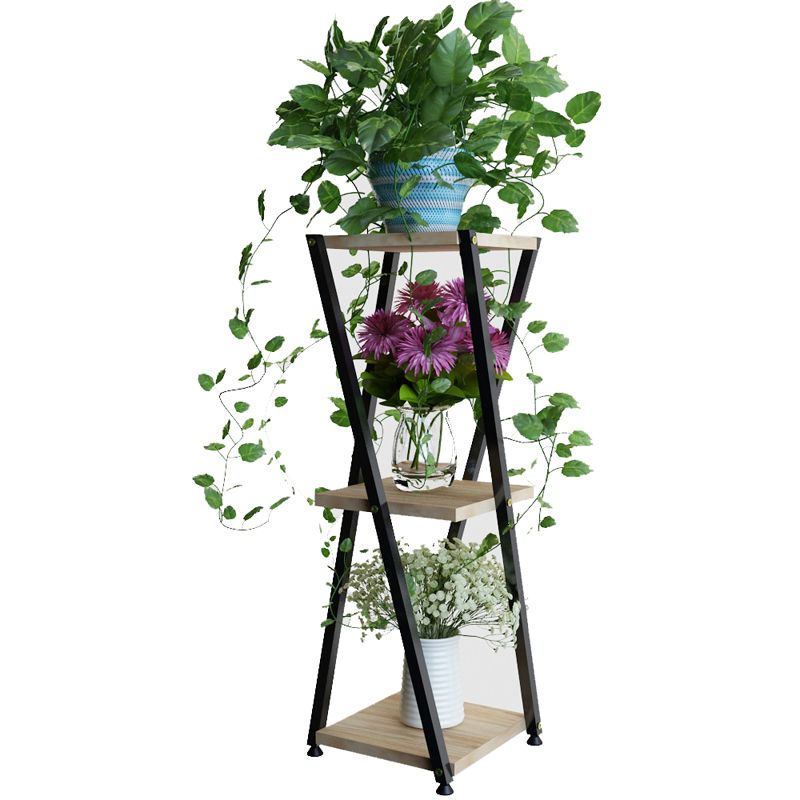 Modern Simplicity Green Luo Tie Yi Function Frame Room Introspection Space Landing Type Flowerpot Frame