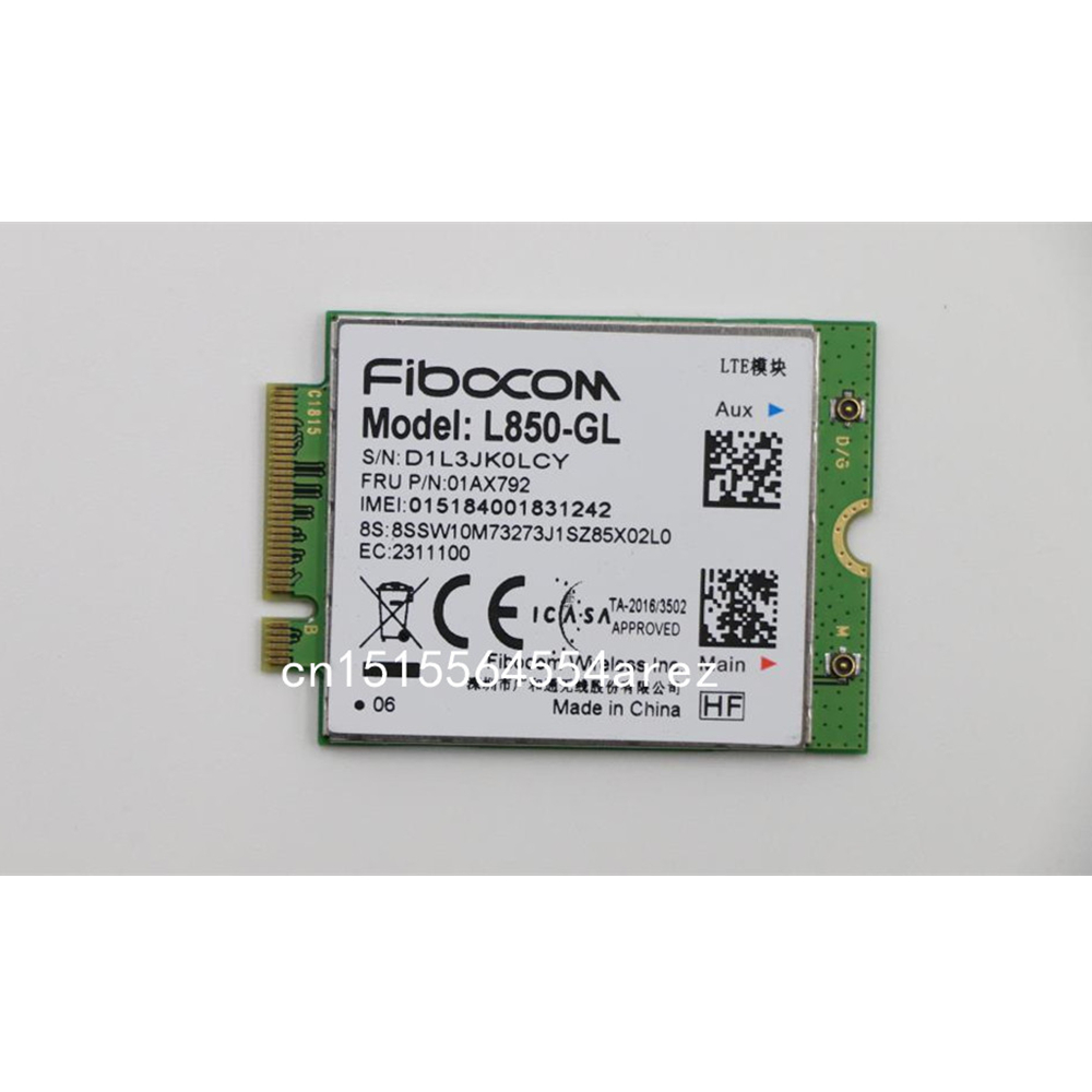Fibocom L850-GL WWAN Card For Lenovo Thinkpad X1 Carbon 6th X280 T480 T480s X1 Yoga 3rd 4th T490 T490s T580 L580 P52 01AX792