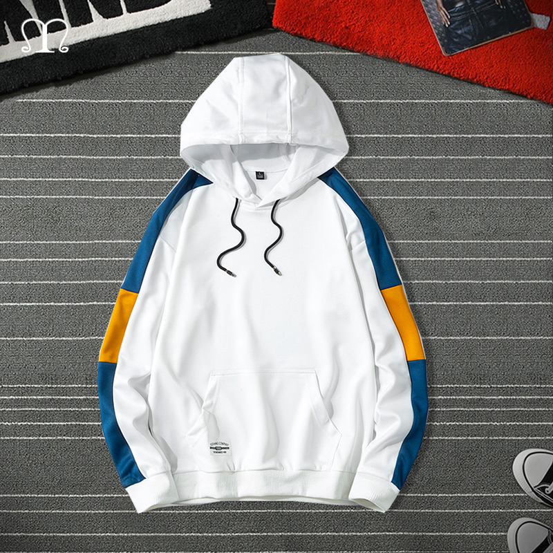 Men's Hoodies 2020 Autumn Brand Male Casual Hooded Sweatshirts Streetwear Fashion Mens Patchwork Hoodie Tops Outwear Jackets 4XL
