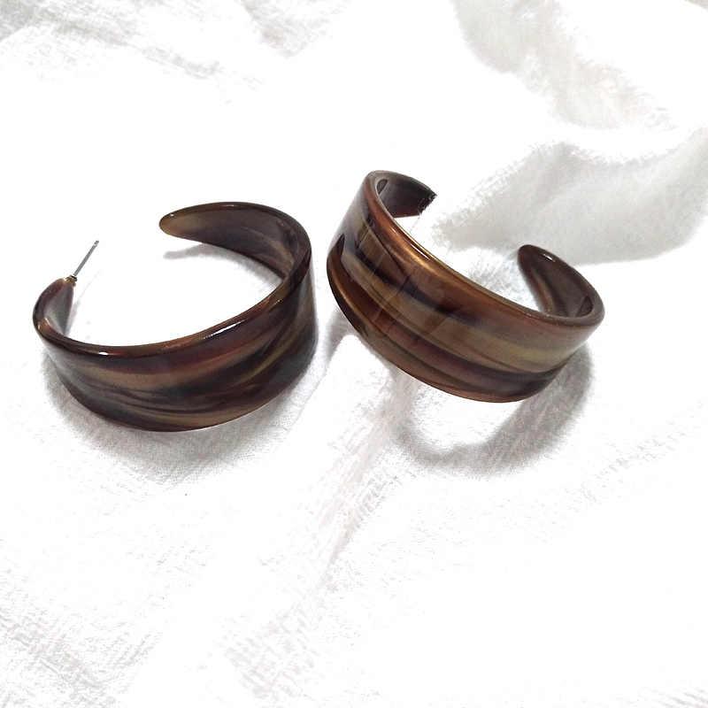 12 kolorów Aretes C kolczyki kolczyki Aros Mujer Oreja Oorbellen Korea Chic zimno przywracając dawne sposoby płyta octanowa C kobieta