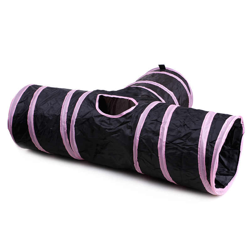 뜨거운 3 구멍 14 색상 Foldable 애완 동물 고양이 터널 실내 야외 애완 동물 고양이 훈련 장난감 고양이 토끼 동물 놀이 터널 튜브 완구