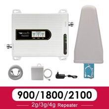 2020 אות סלולארי 900 1800 2100 Tri Band אות מהדר GSM 2g 3g 4g DCS LTE WCDMA 3g 4g מגבר אות GSM 70dB