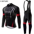 Uhtxhu 2020, мужские велосипедные комплекты, Зимняя Теплая Флисовая одежда для велоспорта, комплект для велоспорта, набор для велоспорта, джерси,...
