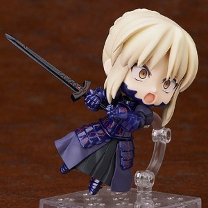 Image 2 - Japan Anime Action figure Fate/stay Night Grand Order ALTER saber fighting 363# Q ver PVC 10cm collection cute figure kids doll
