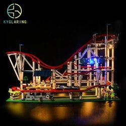 Kit de iluminación LED Kyglairng para LEGO 10261, modelo de juguetes con diseño de montaña rusa, modelo de bloques de construcción (el modelo no incluido)