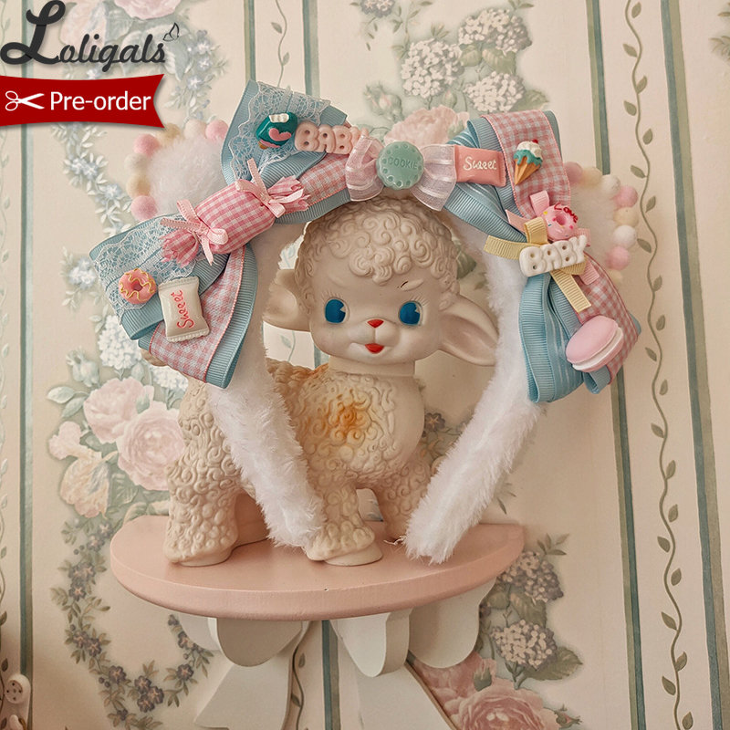 Kitten's Tea Party ~ Sweet Lolita Headband With Bow By Alice Girl ~ Pre-order