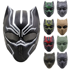 Black Panther Masks Movie Captain America Civil War Cosplay Costume Full Face Latex Helmet Mask Halloween