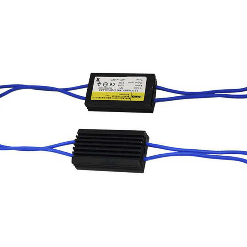 1pc T10 Canbus כבל 12V LED אזהרת Canceller מפענח 501 T 10 W5W 192 168 רכב אורות לא שגיאת Canbus OCB עומס הנגד