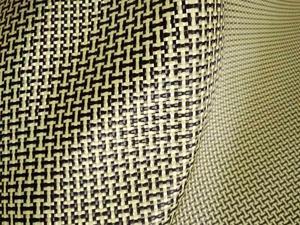 Image 4 - 1100D / 3K 200gsm I Del Tessuto Giallo Kevlar e fibra di Carbonio misto Tessuto Tinta Unita Hybrid Carbon Kevlar Panno