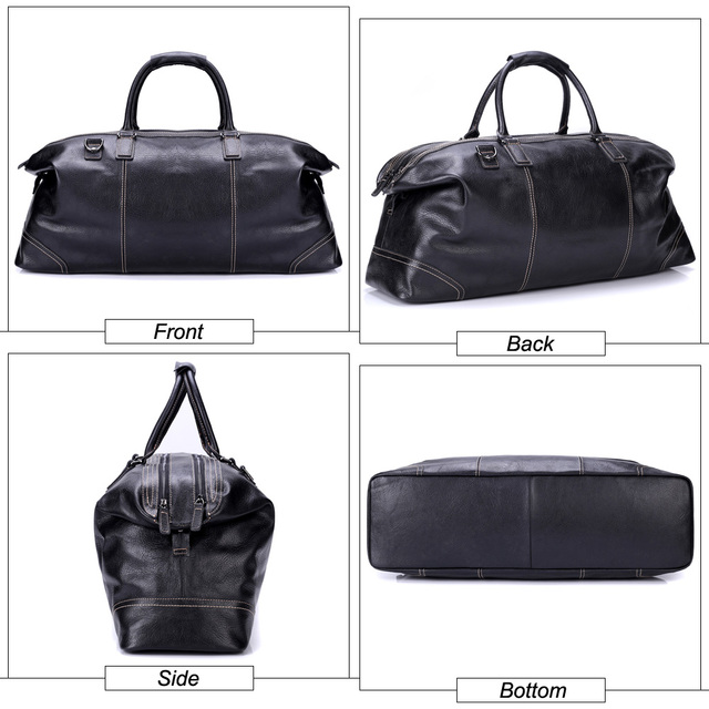MISFITS genuine leather men large travel bags england style tote travel duffle business handbag overnight luggage shoulder bags 2