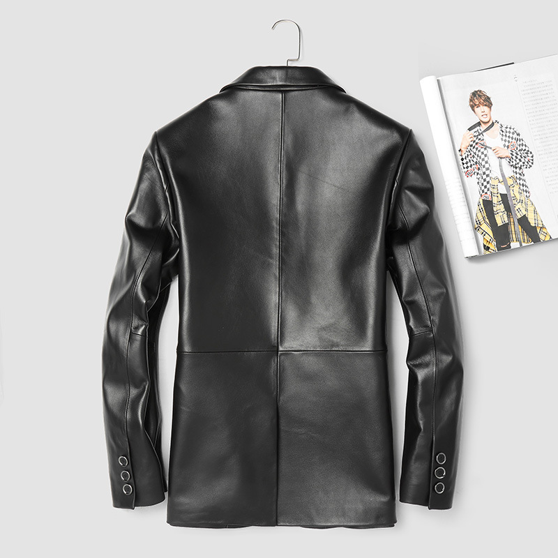 2020 Real Leather Jacket Men Spring Autumn 100% Sheepskin Coat For Men Genuine Leather Jackets Blazer 3912 KJ3003