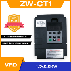 Frequency Converter Adjustable Speed VFD Inverter 1.5KW/2.2KW/4KW ZW-CT1 3P 220V Output for Motor Low Frequency inverter wzw4