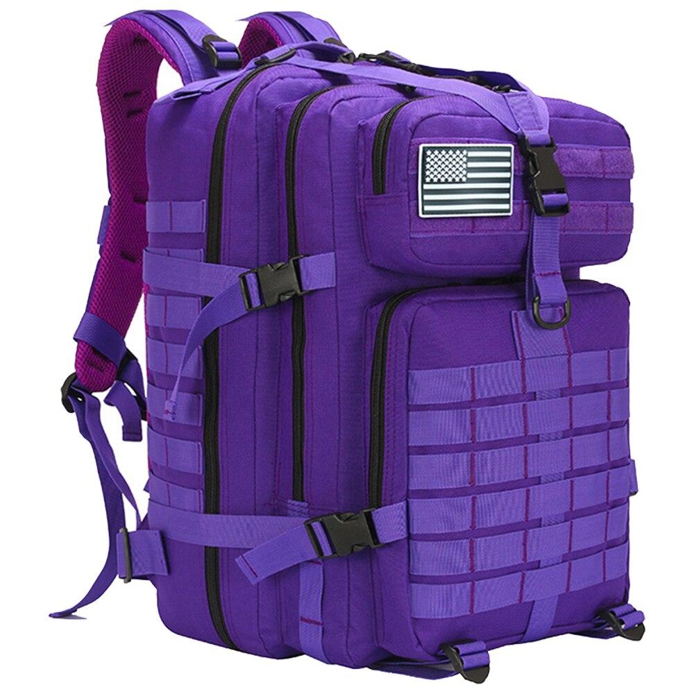 50L homme/femmes randonnée Trekking sac militaire tactique sac à dos armée imperméable Molle Bug Out sac extérieur voyage Camping sac à dos