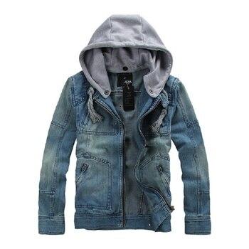 2020  Denim Jacket Men Hooded Sportswear Outdoors Casual Fashion Jeans Jackets Hoodies Cowboy Mans Jacket and Coat