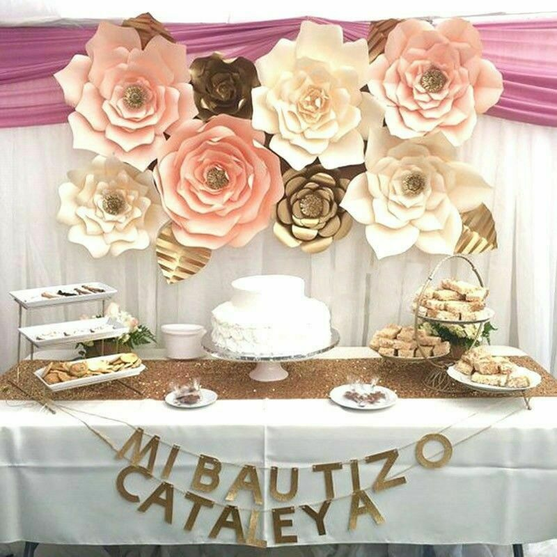 AA 30 cm papierowy kwiat ściana tła 30 cm gigantyczne różowe kwiaty DIY dekoracje weselne