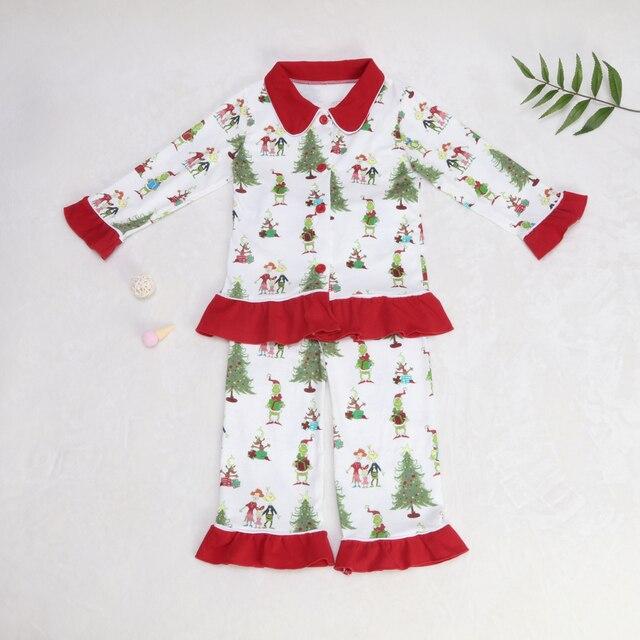 תינוק חג המולד פיג מה דפוס חולצות ילדים סטי בנות שמלות מכנסיים הלבשה עליונה & מעילי משפחת התאמת שינה בגדים