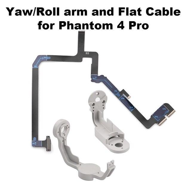 Cardan Yaw Rolo Suporte do Braço Robbin Flat Cable Flex para 4 Pro Drone DJI Fantasma Câmera Reparação Peças Acessório