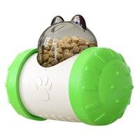 Green-Pet Dog Cat Toys Tumbler Pet Educational Interactive Toy Food Leaker Ball