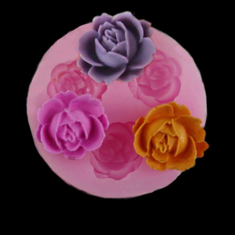 ใหม่มาถึง Rose ใบซิลิโคนสบู่แม่พิมพ์อุปกรณ์ครัวเค้กแม่พิมพ์ Gumpaste Candy คุกกี้ Fondant เค้กตกแต่ง