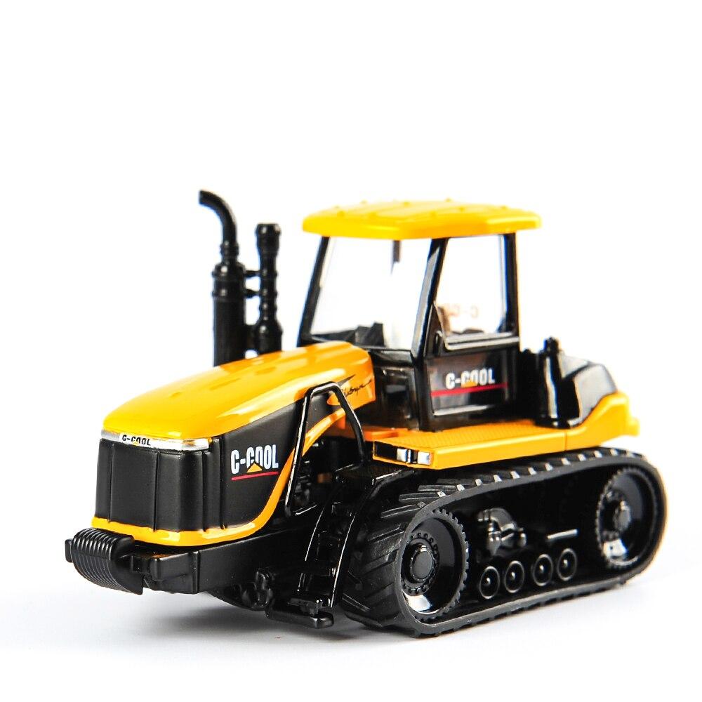 Литье под давлением C-COOL 80005 1/64 масштаб сельскохозяйственный трактор автомобиль кошка инженерный грузовик модель автомобилей Подарочные иг...