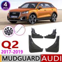 4 本フロントリア車 mudflaps アウディ Q2 2017 2018 2019 フェンダー泥フラップガードスプラッシュフラップマッドガードアクセサリー