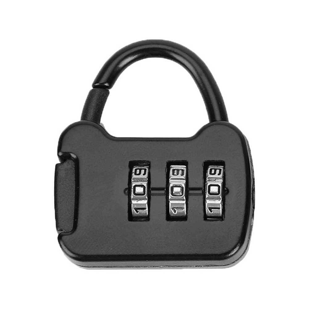 Przenośny 3 kod cyfrowy kombinacja blokada mini bagaż blokada plecak kłódka do blokady plecaka podróżnego