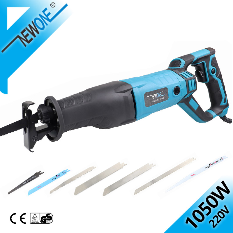 NEWONE 1050W Reciprocating Saw With Adapter Blades, DIY AC Electric Saw For Wood Metal Plasitic Pipe