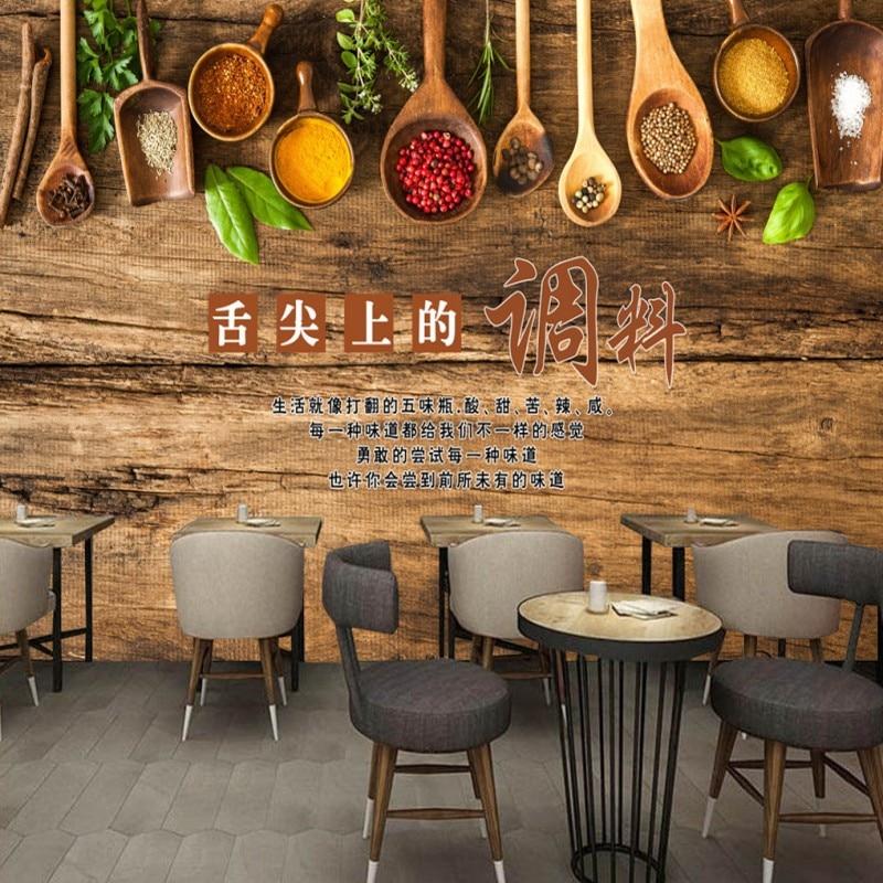 Dropship Custom Mural 3D Stereo Barbecue Hot Pot Restaurant Custom Mural Kitchen Wallpaper Home Decoration