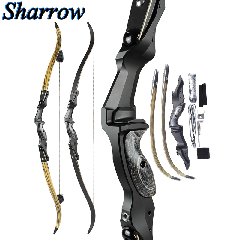 JUNXING Lighthouse Recurve Bow 61'' ILF American Gordon Limbs Imported Bowstring HOYT BUFFALO Hunting Bow Archery Competition