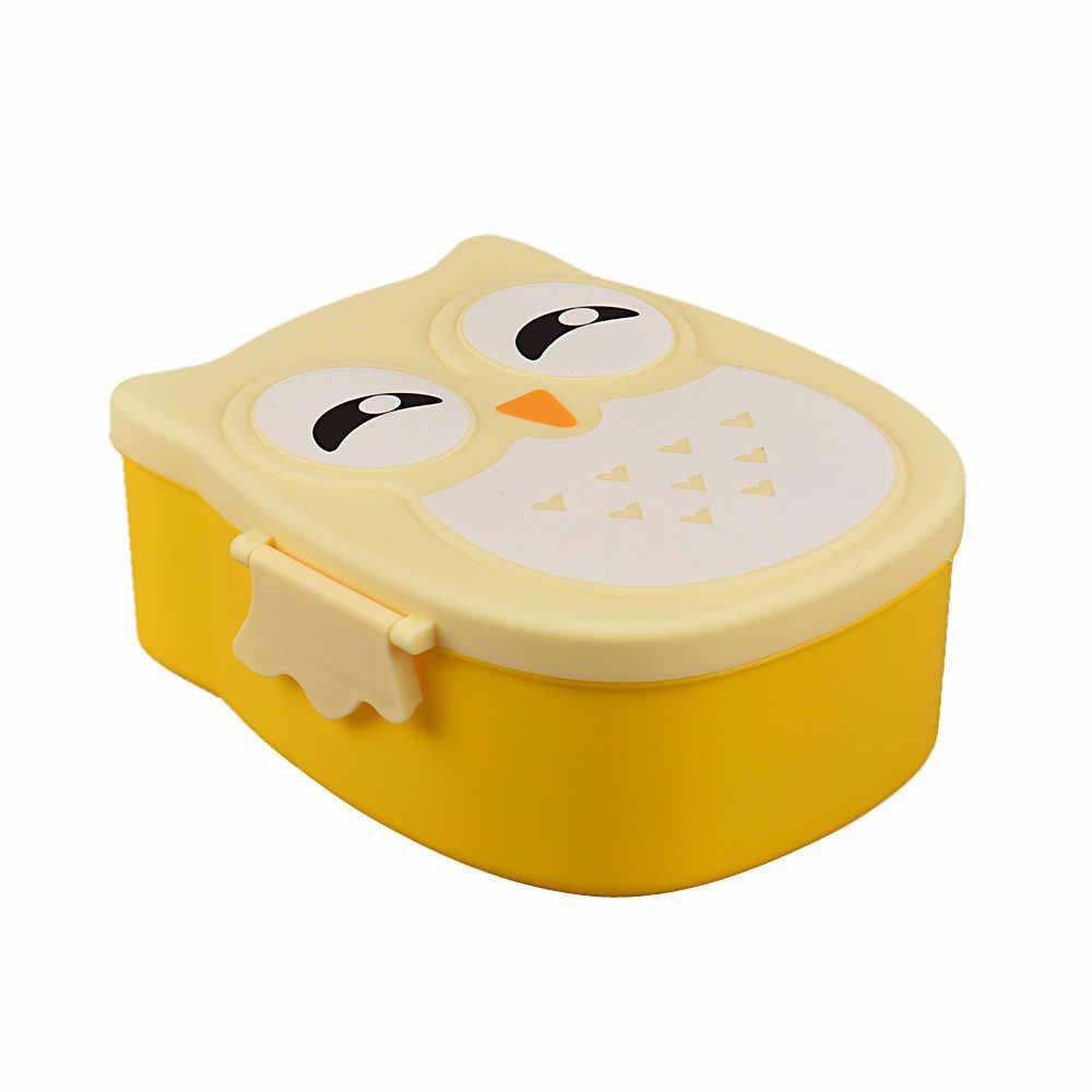Lucu Kartun Hantu Kotak Makan Makanan Wadah Penyimpanan Kotak Portable Anak Siswa Kotak Makan Siang Bento Wadah Kotak dengan Kompartemen #5