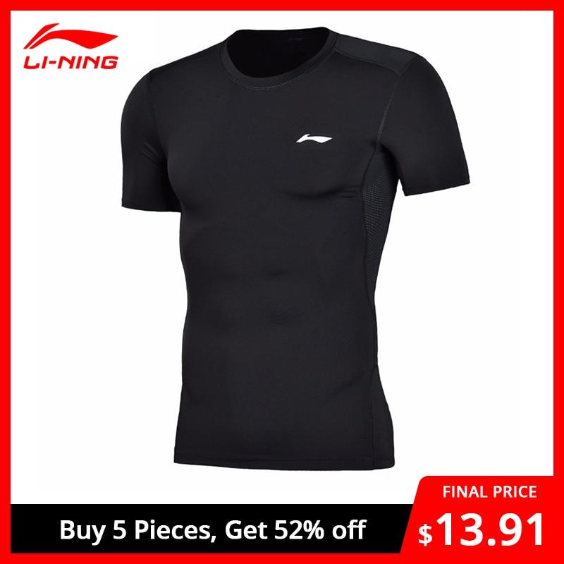 Li-Ning Men Training Professional T-Shirt Layer Slim Fit Quick Dry Breathable LiNing Li Ning Sports T-Shirt Tops AUDN015 MTS2712