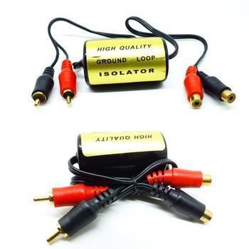 Audio anty-szum izolator pętli uziemienia RCA filtr szumów kobiecy męski uziemienie do samochodowy sprzęt Audio systemy tanie i dobre opinie Plastic Metal Częstotliwość-oddzielenie filtry 12 v Anti-noise 35x65mm Ground Loop Isolator
