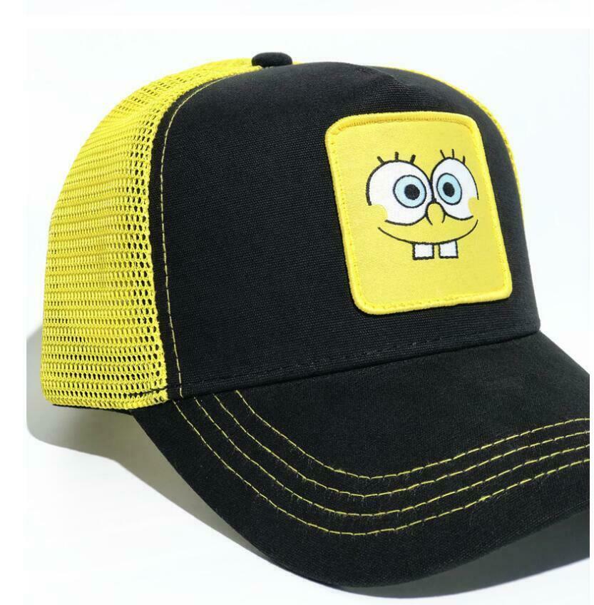 2019 New Summer Trucker Cap Mesh Snapback Hip Hop Hats For Men Embroidery Baseball Cap SpongeBob