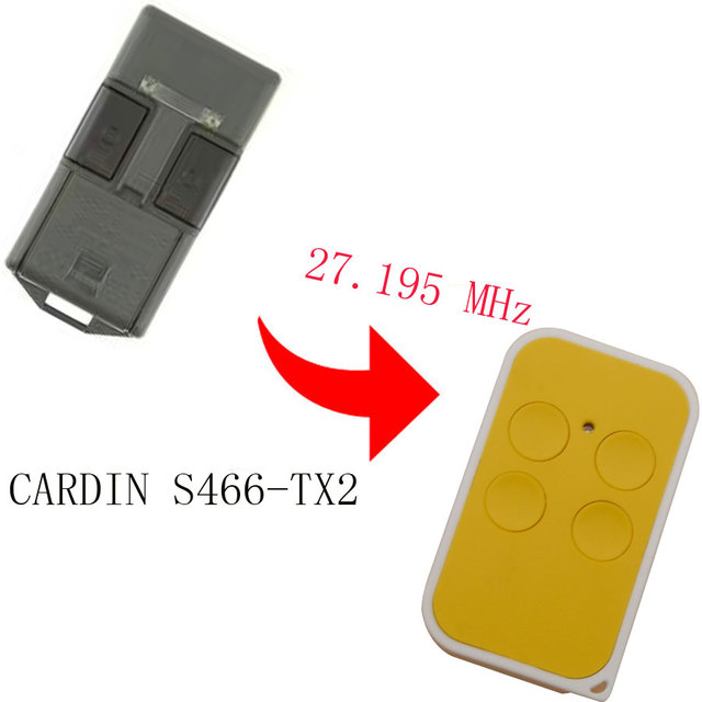 CARDIN S466 TX2 27.195 mhz Remote Control Replacement Clone Fob 27.195mhz New