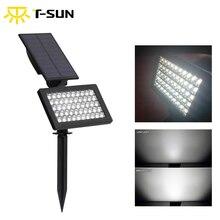 Lampe solaire à 50 led, imperméable conforme à la norme IP44, éclairage dextérieur, applique murale, idéal pour une pelouse ou comme décoration de jardin, T SUNRISE