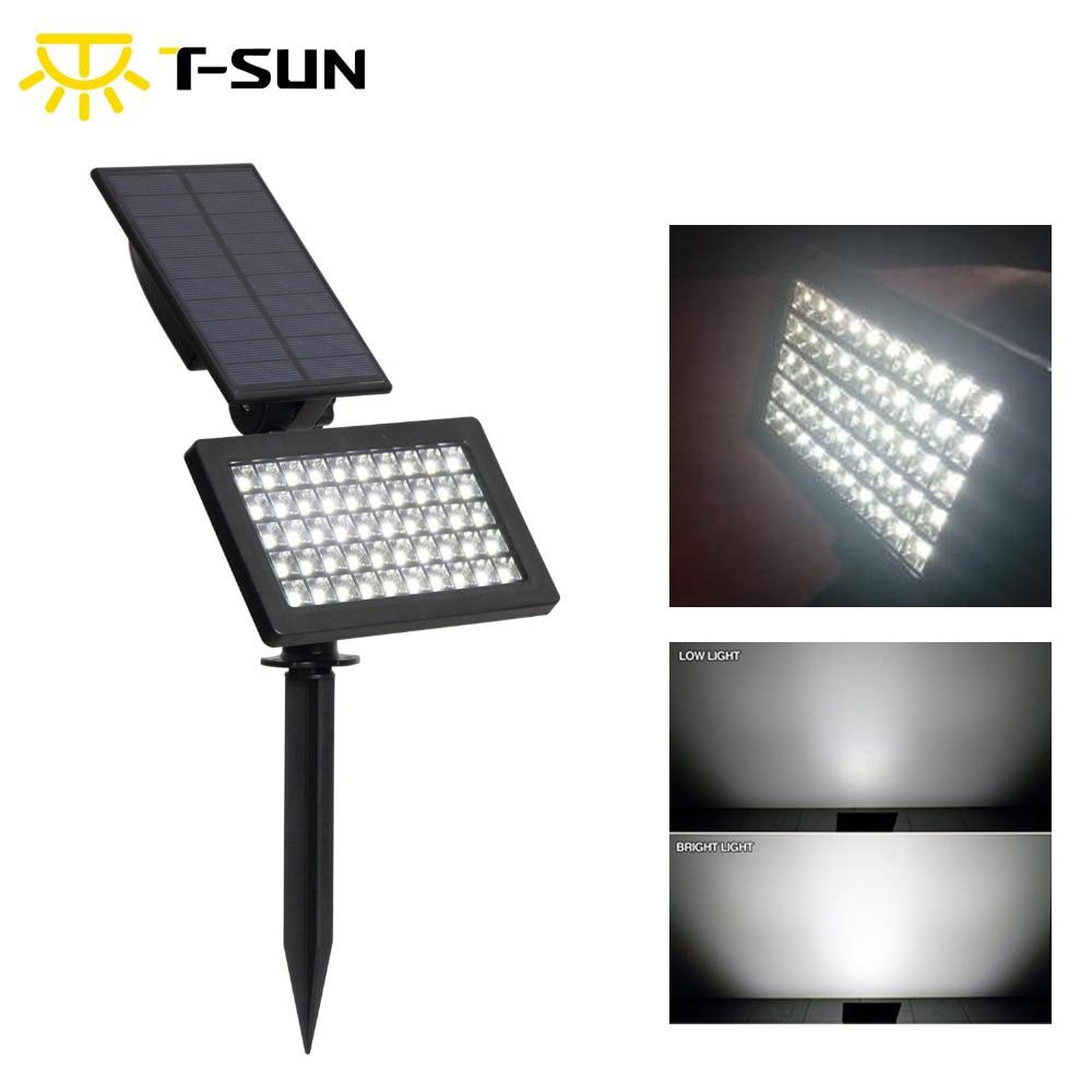 T-SUNRISE 50 светодиодных солнечных садовых фонарей, наружные IP44 водонепроницаемые настенные фонари с питанием от солнечного света для украшени...
