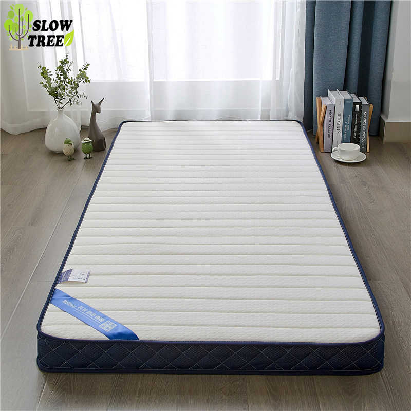 Slow Forest Knitted Memory Cotton Latex Mattress Tatami Mat 10cm Thickness Student Dormitory Bed Mat Single Mattress