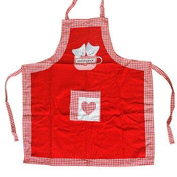 Delantal Halter de lona roja para mujer hogar todo algodón cocina delantal exportación original delantal