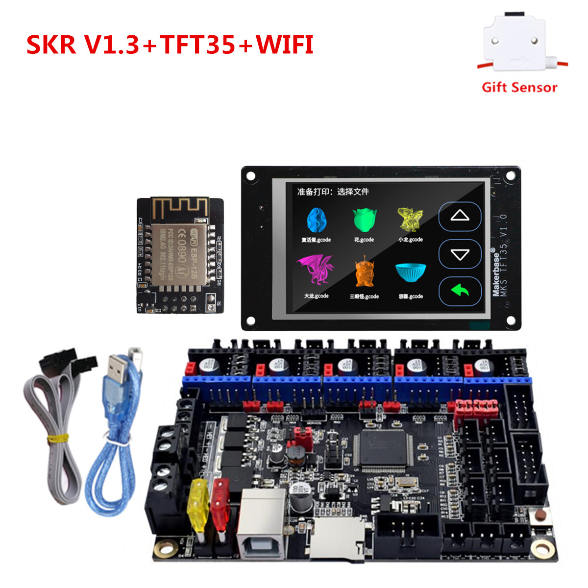 3d Printer Touch Screen MKS TFT35 + SKR V1.3 Monitor Plate DIY Starter Unit Best 3D Printer Upgrade Controller For Ender 3 Cr-10