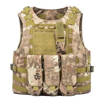 USMC Airsoft Military Tactical Vest Molle Combat Assault Plate Carrier Tactical Vest 7 Colors CS Outdoor Clothing Hunting Vest 12